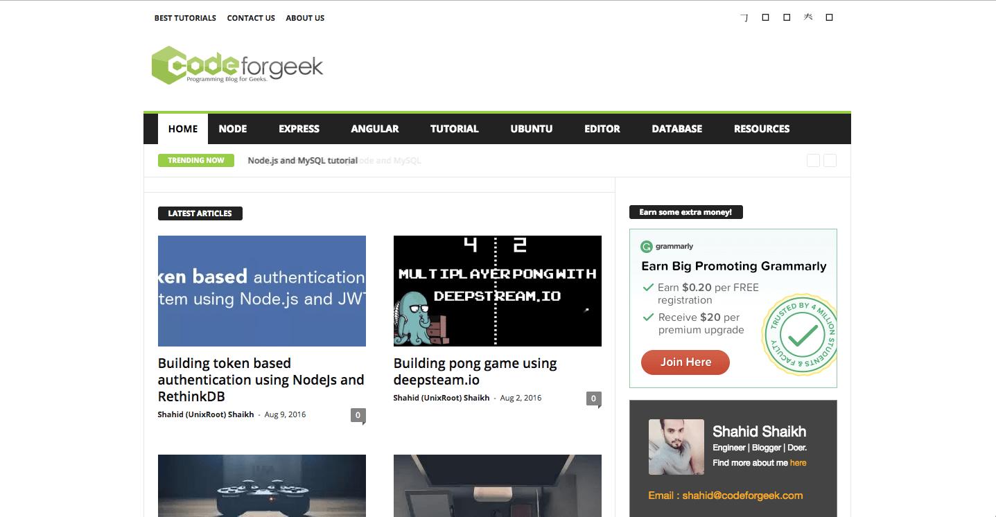 Codeforgeek redesign